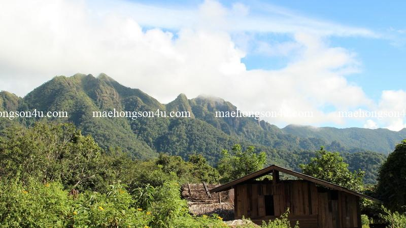 trekking with por dee baan huai po view