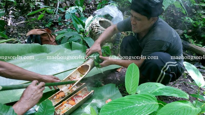 trekking preecha bamboo cooking