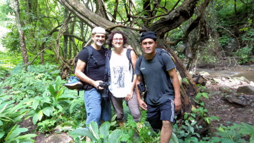 trekking preecha with Nathalie and Lionel