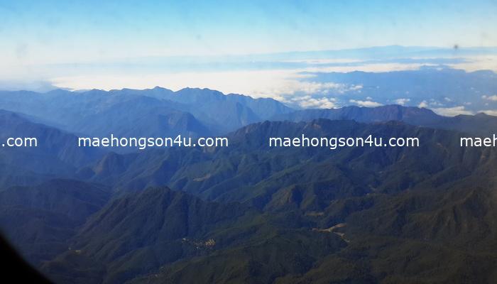 mae hong son from plane