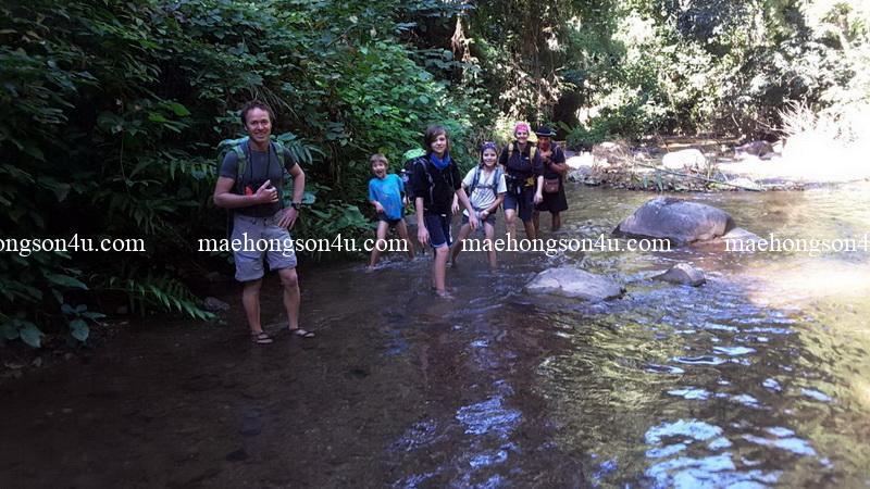 trekking in the water