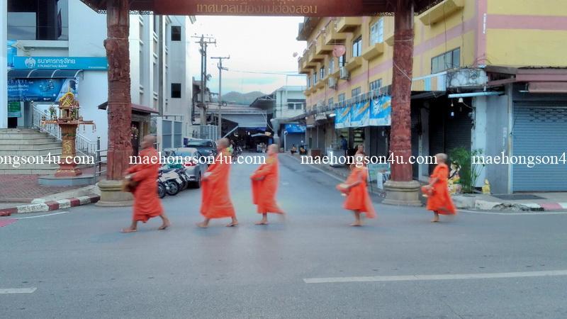 tak bat monks seeking alms