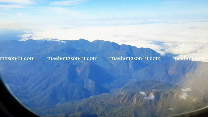 mae hong son from the plane